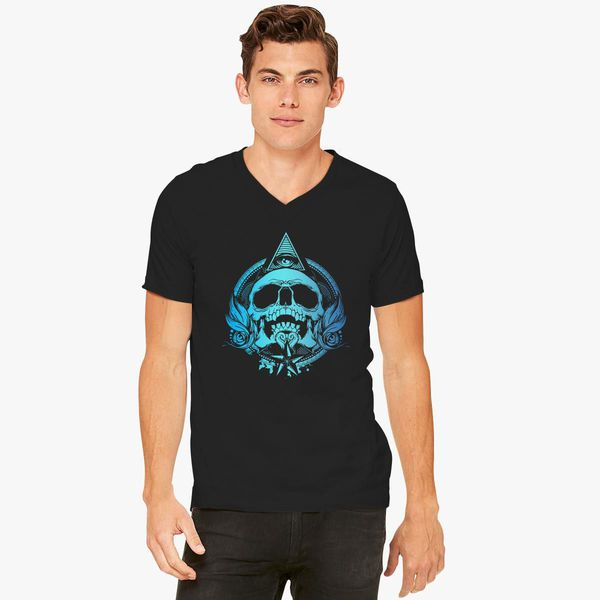 31a2cdb8aebe0 Skull Mayan Aztec V-Neck T-shirt - Customon.com