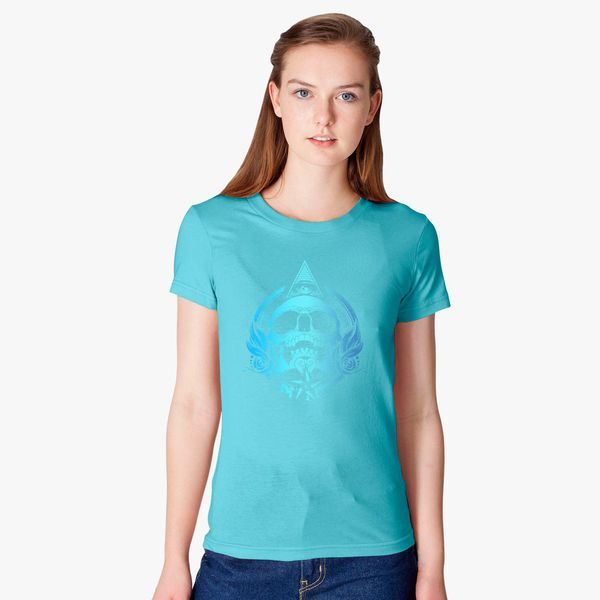 287da34ca2e30 Skull Mayan Aztec Women s T-shirt - Customon