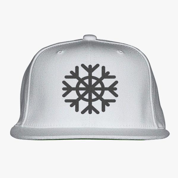 c44e17e37d1 snowflake Snapback Hat (Embroidered) - Customon