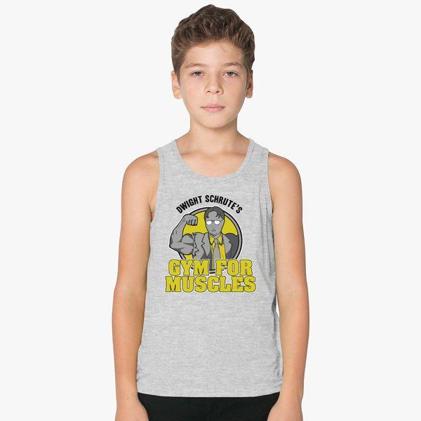 a46b809e81522 Dwight Schrute s Gym For Muscles Kids Tank Top - Customon