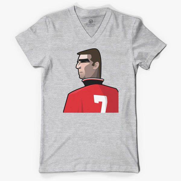 Eric Cantona Kick Mens Football Soccer Masculin Legend T-Shirt