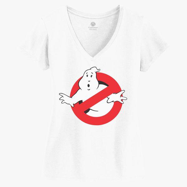 6164a9019 Ghostbusters Women's V-Neck T-shirt - Customon