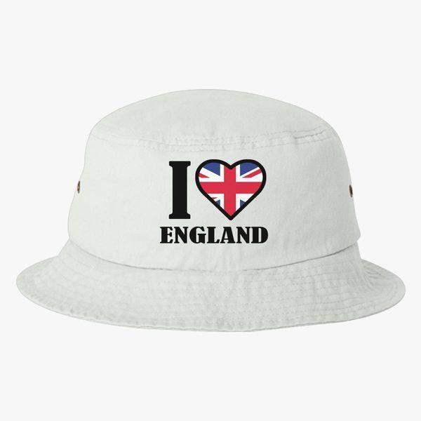 I LOVE ENGLAND Bucket Hat (Embroidered)  ed578529eec