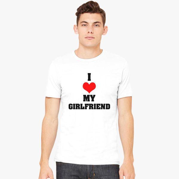 Boyfriend Girlfriend Valentine S Day Couple T Shirts Men S T Shirt