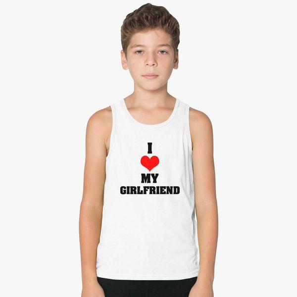 Boyfriend Girlfriend Valentine S Day Couple T Shirts Kids Tank Top