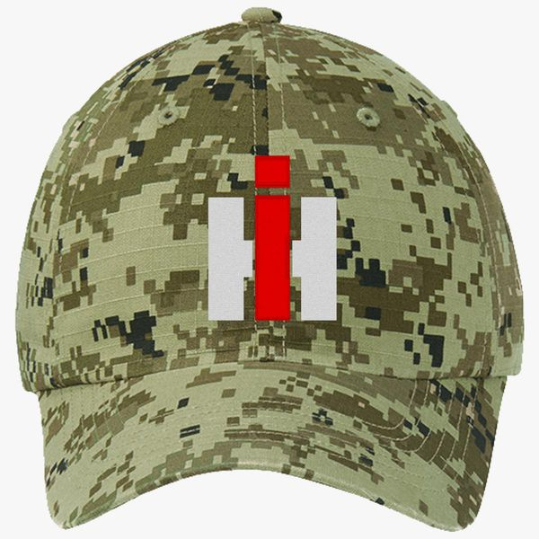 International Harvester Farmall Ripstop Camouflage Cotton Twill Cap -  Embroidery +more 7f1f30f0c086
