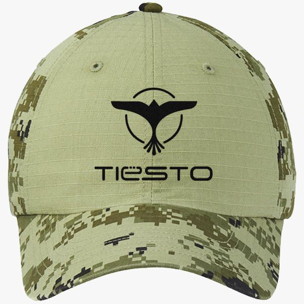 923973652c7 Dj Tiesto Logo Colorblock Camouflage Cotton Twill Cap (Embroidered ...