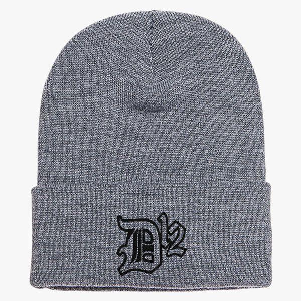 bf58f3e08dd D12 Rap Hip Hop Music Classic Logo Knit Cap - Embroidery ...
