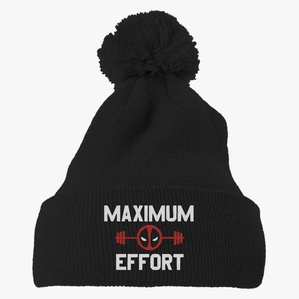f36b0c2cbd2 Maximum Affort Knit Pom Cap - Embroidery +more