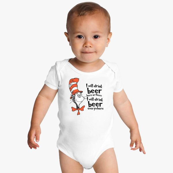 85948e47e Dr. Seuss The Cat in the Hat Beer Baby Onesies | Customon.com