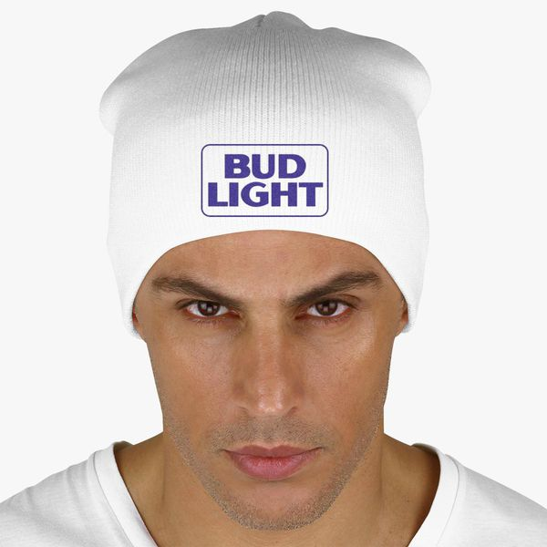 b2152f66f3a Bud Light Beer Knit Beanie - Embroidery ...