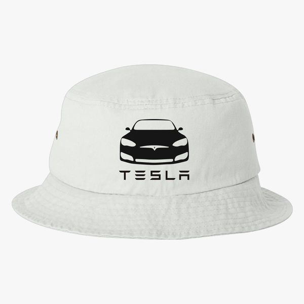 tesla car black Bucket Hat - Embroidery +more 0a9212a73eb