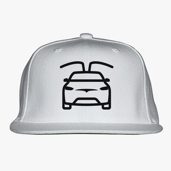 tesla car black Snapback Hat (Embroidered)  2e3678d6efe