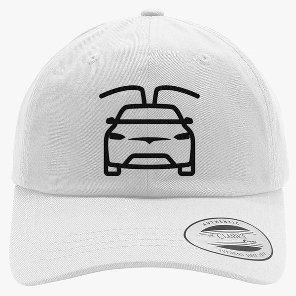 tesla car black Cotton Twill Hat (Embroidered)  c3244b7084f