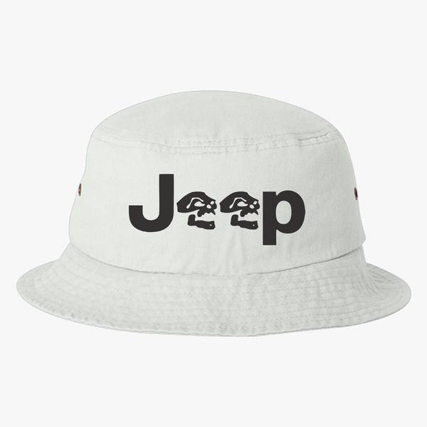 Jeep Skull Bucket Hat (Embroidered)  462885f76e9