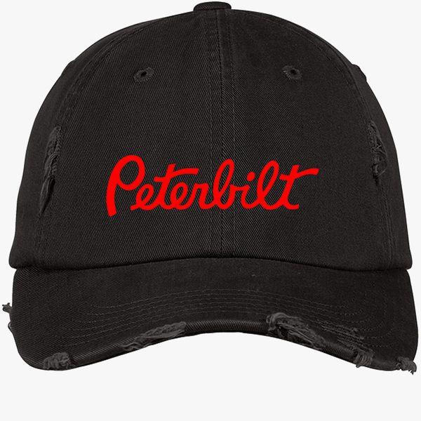 7205ba84774 Peterbilt Distressed Cotton Twill Cap (Embroidered)