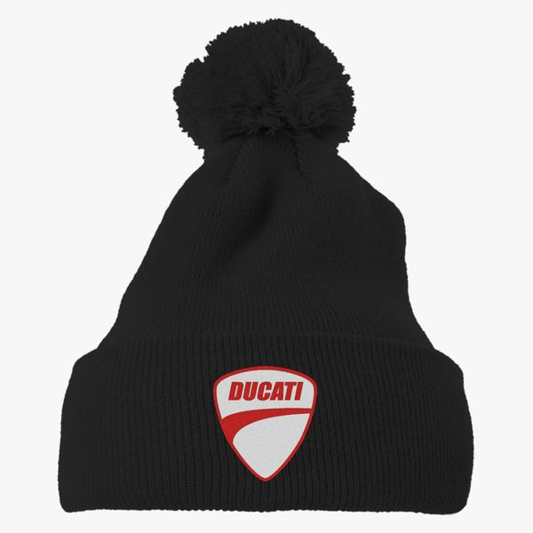 Ducati Knit Pom Cap (Embroidered)  1c80fabb85a3