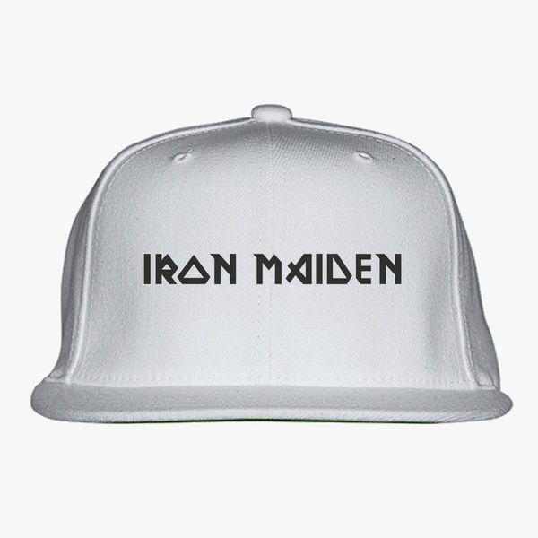 Iron Maiden Logo Snapback Hat  dddb4b43b67