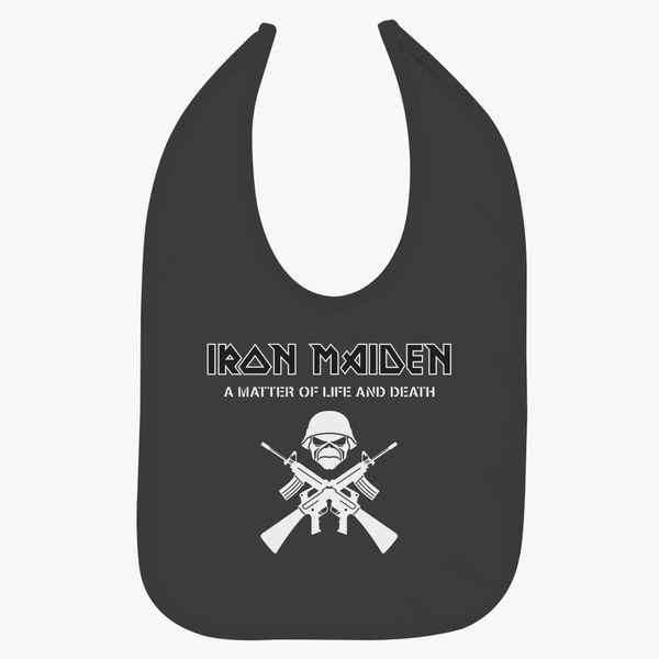 Iron Maiden A Matter Of Life And Death Baby Bib Customon