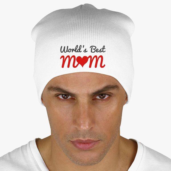 world s best mum Knit Beanie (Embroidered)  7543c0fc6a7