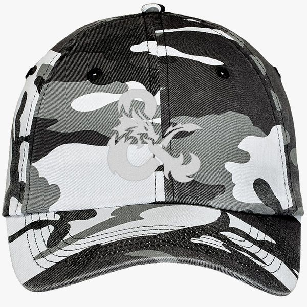 8fd38488be0 Dungeons and Dragons Logo Camouflage Cotton Twill Cap (Embroidered ...