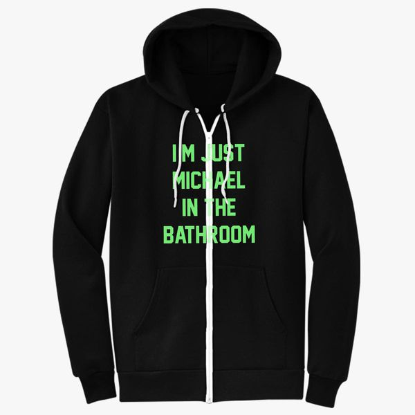 Be More Chill Michael In The Bathroom Unisex Zip Up Hoodie