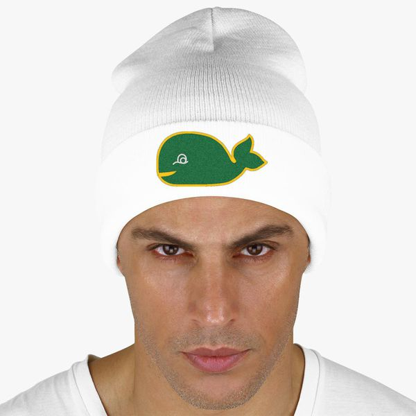 Hartford whalers fish Knit Cap - Embroidery ... 2bb3d03f9c1c