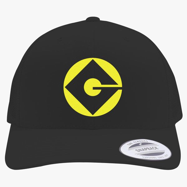 Gru Logo Retro Trucker Hat Embroidered Customon