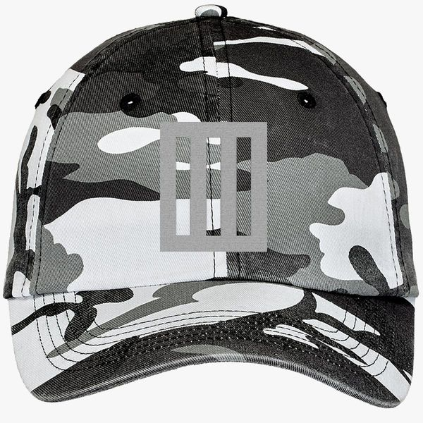 998ec2cd86c Paramore logo Camouflage Cotton Twill Cap - Embroidery ...