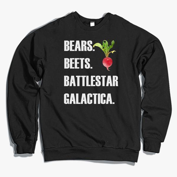 Bears Beets Battlestar Galactica The Office Crewneck Sweatshirt