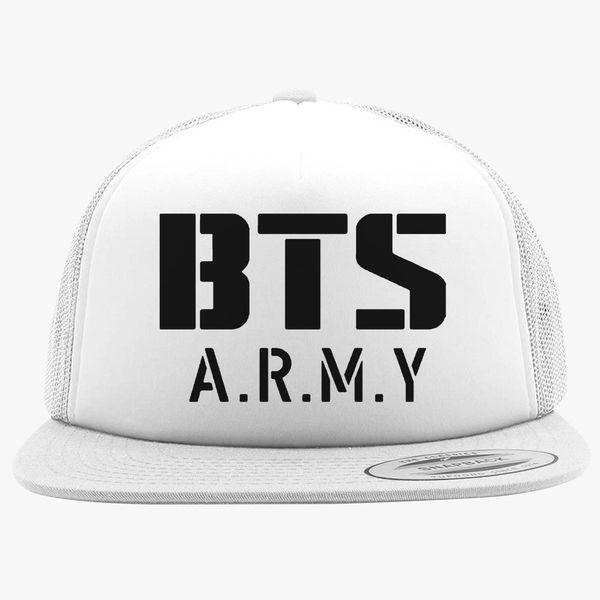 BTS Bangtan Boys BTS ARMY Foam Trucker Hat ...