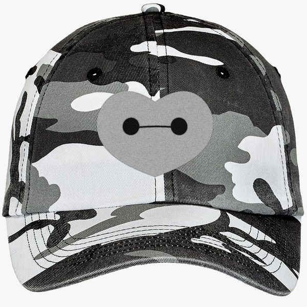 Big Hero 6 - Baymax Shaped Heart Camouflage Cotton Twill Cap - Embroidery  ... f133304fbb4e