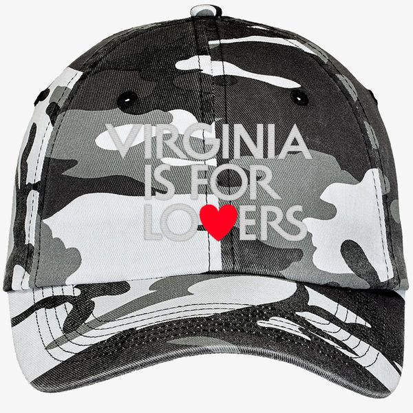 VIRGINIA IS FOR LOVERS Camouflage Cotton Twill Cap - Embroidery +more 4b0f32b67d0b
