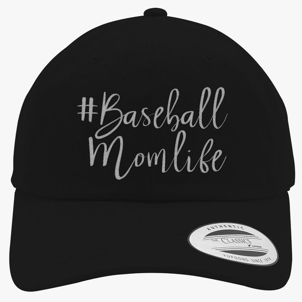 baseball mom life Cotton Twill Hat (Embroidered)  4a4ddb1eb8f