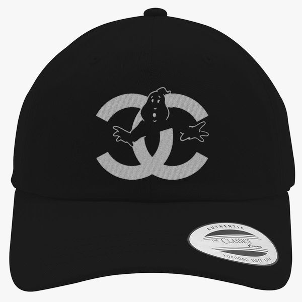 chanel cc parody logo ghost Cotton Twill Hat (Embroidered ... b6a34f3c0ee