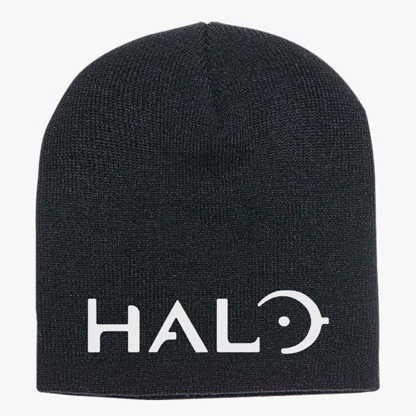 5e3b114e3b8 Halo Game Logo Knit Beanie ...