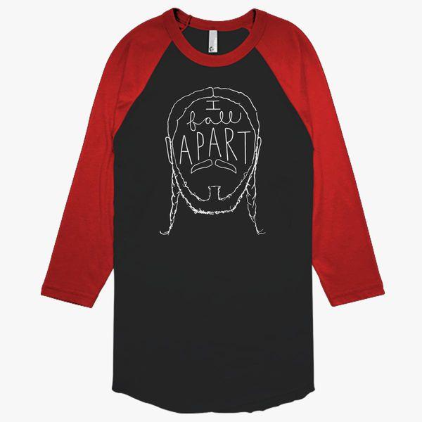 Post Malone I Fall Apart Guitar: Post Malone I Fall Apart Baseball T-shirt