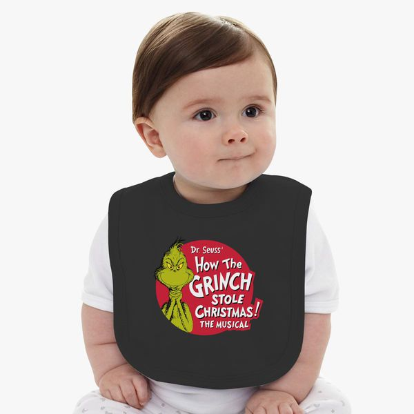 Dr Seuss How The Grinch Stole Christmas The Musical Baby Bib