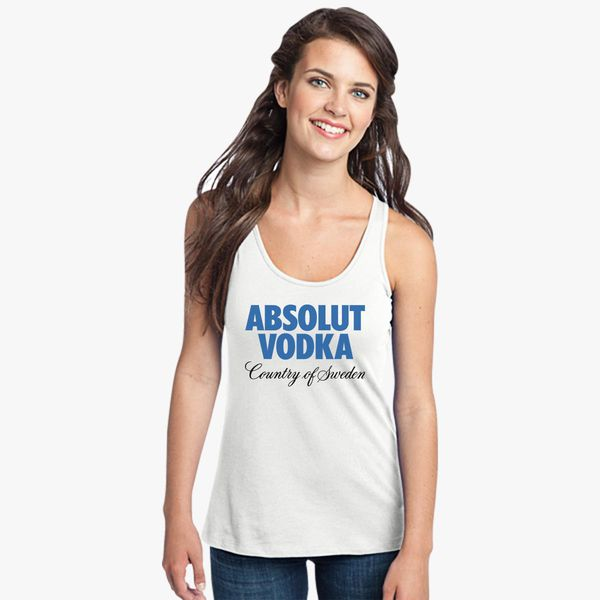 5ec9afd470ed2 Absolut Vodka Logo Women s Racerback Tank Top ...