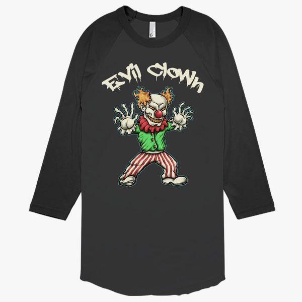 Scary Evil Clown T Shirt Baseball T Shirt Customon Com