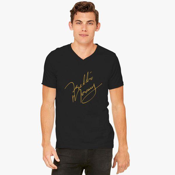 a295edef7f01a Freddie Mercury Signature V-Neck T-shirt ...