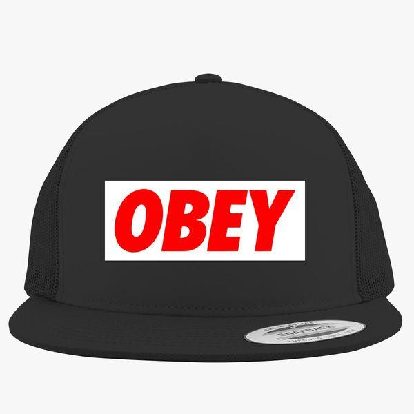 obey logo Trucker Hat ... 3aacf3f2f39