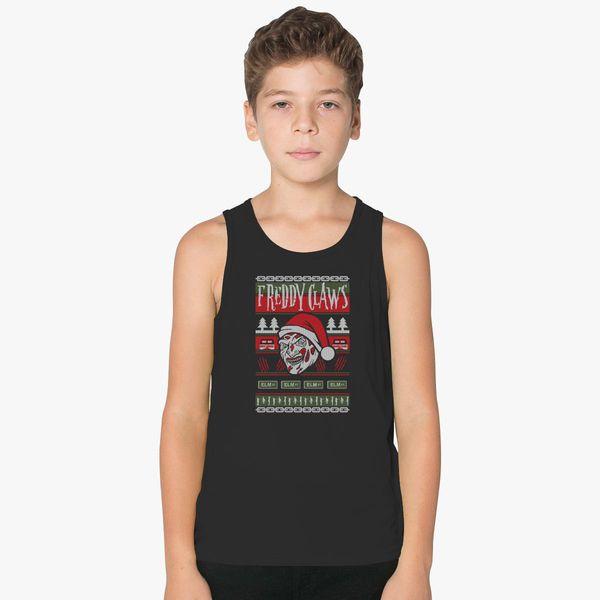 Freddy Krueger Ugly Christmas Sweater Kids Tank Top Customoncom
