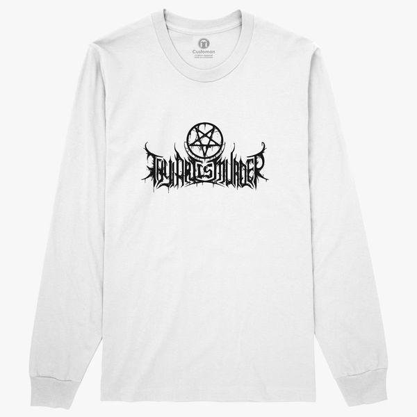 thy art is murder logo long sleeve t shirt customon Drawstring Sleeve thy art is murder logo long sleeve