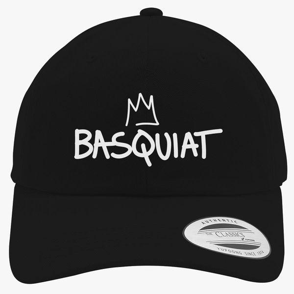 2233cdffa5109 Basquiat Logo Crown Cotton Twill Hat ...