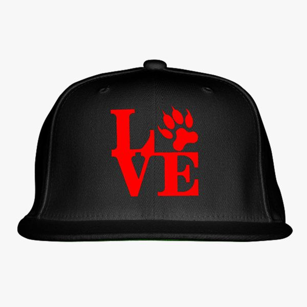 Love Cat Snapback Hat (Embroidered)  92ff9a52f87