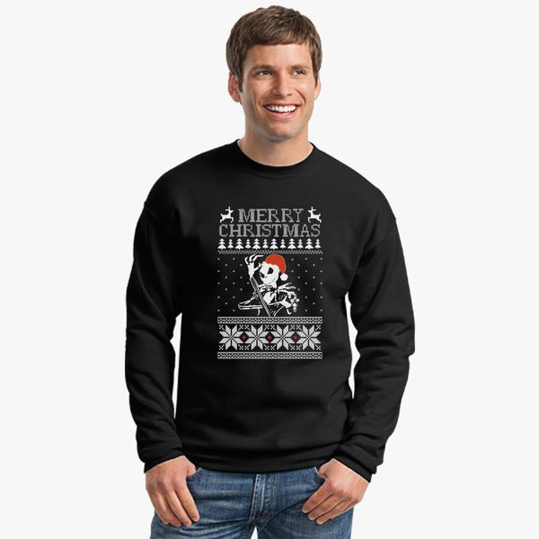 Jack Skellington Ugly Christmas Sweater Crewneck Sweatshirt