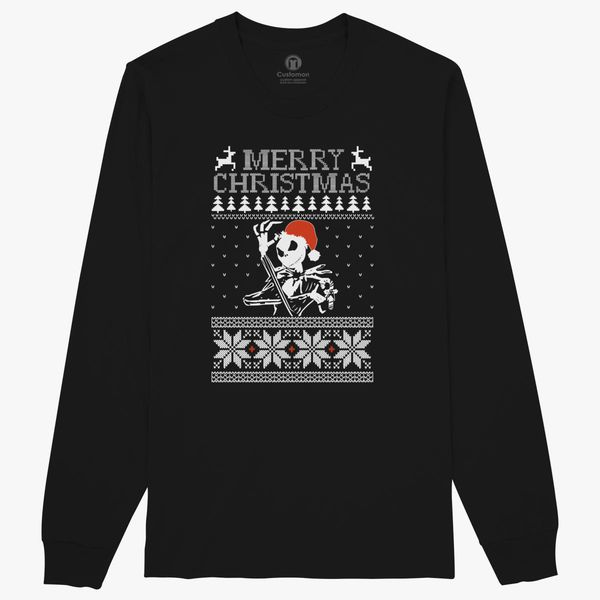 Jack Skellington Ugly Christmas Sweater Long Sleeve T Shirt