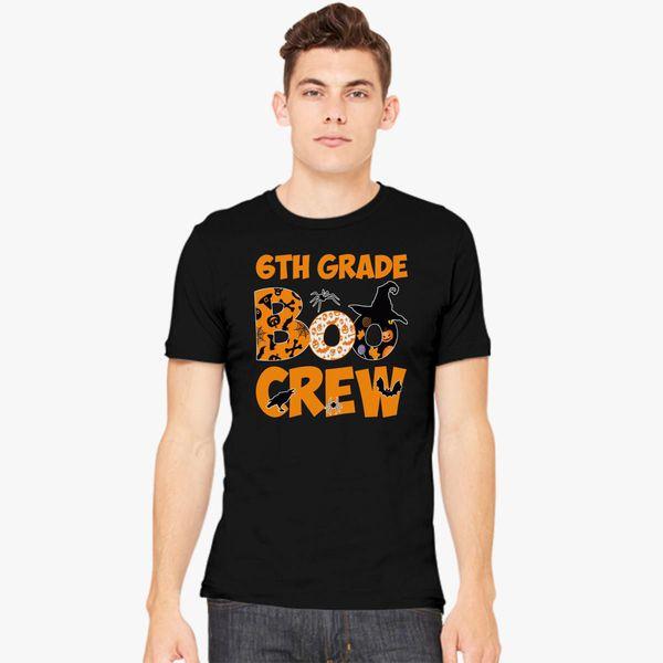 6th Grade Tshirt Cute Boo Crew Teacher Kids Halloween Mens T Shirt