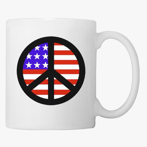 Peace Sign American Coffee Mug